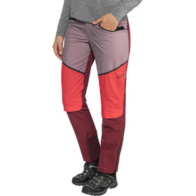GORE WEAR H5 Windstopper Pantalones Mujer, chestnut red/hibiscus pink